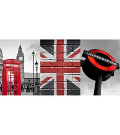 Home Decor London Wall Decal, 3 Piece Set