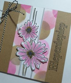 Made by Petra Tillmann Cricut Cards, Flower Cards, Petra, Hand Stamped, Different Colors, Colours, Tableware, Flowers, Handmade