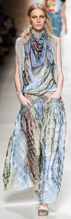 Etro Spring 2014 Collection  How can you not be in love with wearing soft silky flowing fabrics?