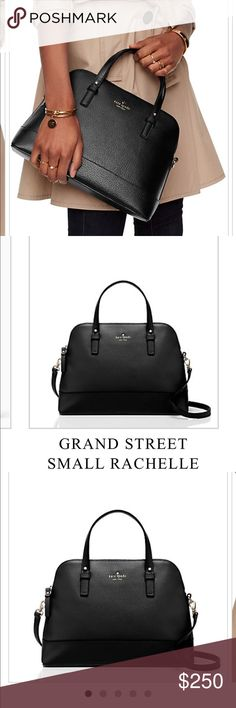 *lowest price* NWT Kate ♠️ Grande Street Rachelle! Brand NWT black Kate Spade Grande Street Rochelle..hasn't even been taken out of the wrapping! Just debuted this fall! Gorgeous structure and perfect size! I unfortunately cannot lower the price on this anymore without a bundle. The wallet goes with this purse and would be a great deal and bundle. kate spade Bags Shoulder Bags