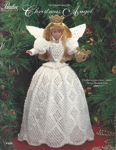 Crochet Pattern Christmas Angel Victorian by KnitKnacksCreations
