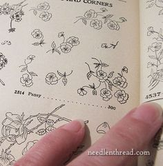 Embroidery Patterns from Old Needlework Catalogs