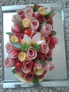 Food Carving Veggie Tray Cheese Platters Meat Trays Meat Platter Food Platters G. Meat Trays, Meat Platter, Food Platters, Cheese Platters, Cheese Food, Party Food Buffet, Creative Food Art, Food Carving, Food Garnishes
