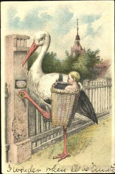 Stork with BAby Babies