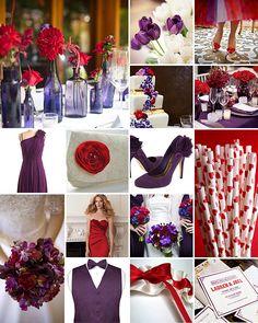 Red Purple White Royal