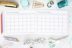 Free printable calendar pages, binders, planner pages, goal setting sheets, and more can help you organize your life and increase productivity! Printable Calendar Pages, Free Printable Calendar, Printable Planner, Free Printables, To Do Planner, Planner Pages, Goal Setting Sheet, Setting Goals, Binder Organization