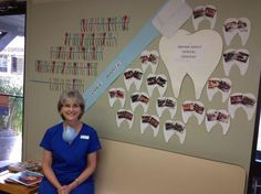 Dental Month has come to an end. We did 16 dentals this month!! It was very exciting for us that our clients heard the call and signed up to take care of their pets dental needs and prolonged their lives together! Pictured is Phyllis, a Certified Veterinary Technician with special interests in Dentistry, with our Dental Wall! Great work Phyllis!