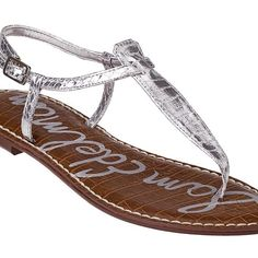 Sam Edelman silver sandals I only wore these one night to a wedding. Great condition. Box included. Sam Edelman Shoes Sandals