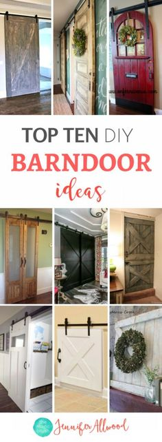 Amazing Ideas Top Ten DIY Barndoor Tutorials and Farmhouse Barndoor Ideas and Sliding Doors Jennifer Allwood Barndoors Refurbished doors as ba… – Mudroom Entryway Home Office Decor, Diy Home Decor, Refurbished Door, Sliding Pantry Doors, Closet Doors, Room Closet, Wood Screen Door, Screen Doors, Interior Barn Doors