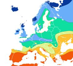 Europe Sunshine Map