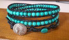3 rows natural tyrqoise The Row, Blue Green, Bracelets, Nature, Jewelry, Fashion, Moda, Naturaleza, Jewlery
