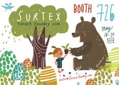 Forest Foundry is going to SURTEX! Neiko Ng, Victoria Weiss, Karma Voce, Ine Beerten, Miriam Bos, Kat Kalindi Cameron, Katy Tanis at booth 726 and Zoe Ingram at Lilla Roger's booth.