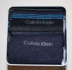 2 pary Skarpetki męskie Calvin Klein w metalowym pudełku.