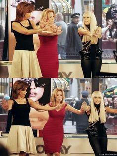 Lady Gaga with Kathie Lee Gifford and Hoda Kotb on The Today Show Kathie Lee Gifford, Hoda Kotb, Today Show, Bridesmaid Dresses, Wedding Dresses, Lady Gaga, My Girl, Celebs, Women