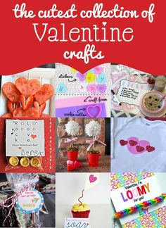 The cutest collection of Valentine crafts and ideas!