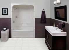 acrylic tub shower combo. Empire 60 Inch 3 Piece Acrylic Tub And Shower Left Hand Mirolin  Victoria Piece