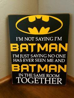 Vinyle de signe bois BATMAN, super-héros de lettrage