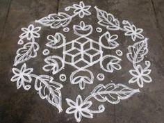 Rangoli designs/Kolam: S.No. 22 :-15-8 Pulli kolam
