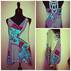 Candies Sleeveless Blouse Colorful vibe Candie's Tops Tunics
