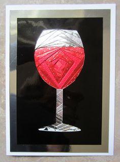 Wine Iris folding card....by Carolyn Michelsen