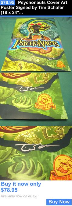 Art Paintings Mixed Media Collage: Psychonauts Cover Art Poster Signed By Tim Schafer (18 X 24) Video Game Print BUY IT NOW ONLY: $78.95