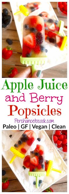 Apple Juice and Berry Popsicles {Paleo, GF} | Perchance to Cook, www.perchancetocook.com