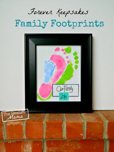 Family Footprint Frame - so precious. Do this now before their feet grow anymore!