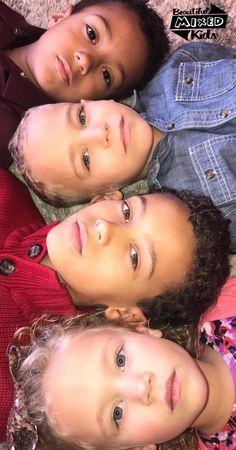 Garrison, Gorian, Graydin, & Gersey • African American & Caucasian ♥️♥️♥️♥️   FOLLOW @BEAUTIFULMIXEDKIDS http://instagram.com/beautifulmixedkids