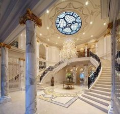Main Luxury Entrance and Grand Staircase