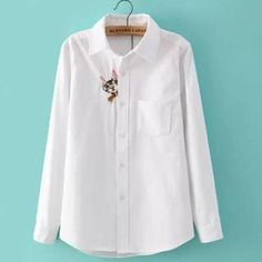Long-Sleeve Embroidered Cat Blouse from #YesStyle <3 JVL YesStyle.com