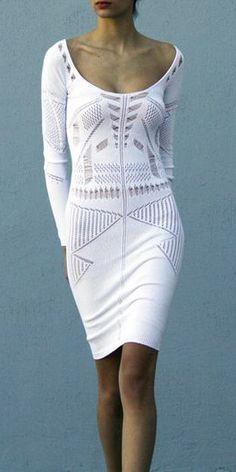 Vestido blanco, muy femenino
