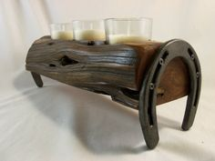 Cedar Farm Post Candle Holder  Made in Texas by XXRanchArt on Etsy