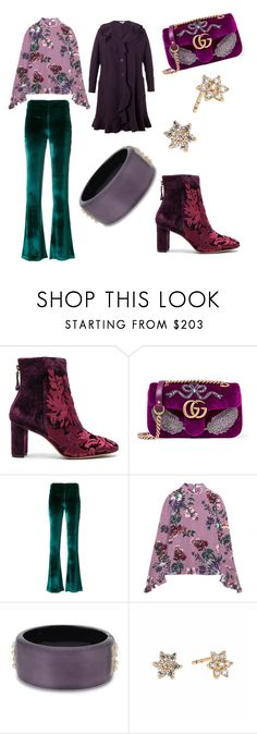 """""""Untitled #2014"""" by martimarisa ❤ liked on Polyvore featuring Alexandre Birman, Gucci, Galvan, Erdem, Alexis Bittar and Chesca"""