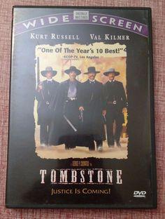 Tombstone (DVD, 1997) Kurt Russell, Val Kilmer, Sam Elliott Western Movie