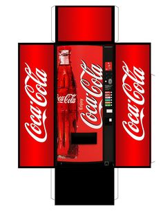 Coca Cola vending machine.  Also see http://www.creativecloseup.com/download-retro-vintage-coke-vending-machine-papercraft-model https://picasaweb.google.com/101899687610771317420/PrintableDollhouseFood#5434081202392125346 https://picasaweb.google.com/101899687610771317420/PrintableDollhouseFood#5434081151015585442.  (There are Japanese versions at http://boingboing.net/2008/03/28/vendingmachine-obses.html and http://www.amazon.com/Miniatuart-Diorama-Option-Kit-Vending/dp/B0064YQS52).
