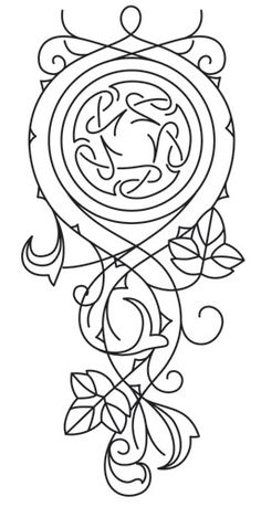 Elven Court Knotwork Cascade | Urban Threads: Unique and Awesome Embroidery Designs