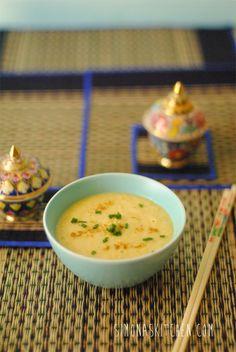zuppa di mais, mais, ricette con mais, zenzero, curry, spezie