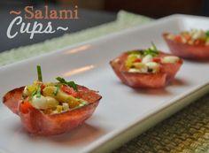 Salami Cups   http://wannabite.com/salami-cups-a-perfect-antipasta/