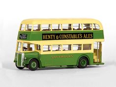 Leyland PD2 Highbridge Diecast Model Bus by EFE 16133 This Leyland PD2 Highbridge Diecast Model Bus is Green and Cream and features working wheels. It is made by EFE and is 1:76 scale (approx. 12cm / 4.7in long).
