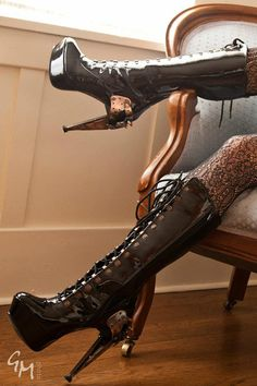 """""""Sexy Steampunk high heels"""" - if you like HIGH heels, these are also a good goth choice, not casual wear, but very nice ~:^]>"""