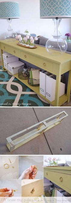 DIY Sofa Table Behind The Couch.