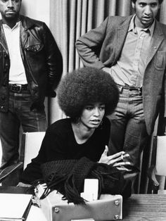 Angela Davis -1972 by Norman Hunter