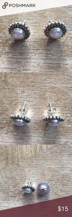 Earrings vintage Sterling silver solid 925 Earrings Sterling silver solid 925 vintage and Perls Jewelry Earrings