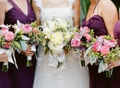 Image result for purple pink wedding