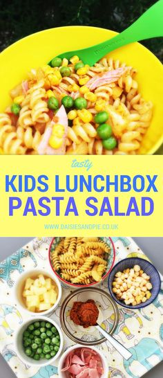 Kids lunchbox pasta salad, tasty and quick 15 minute meal, perfect for summer dinner when you want food fast.