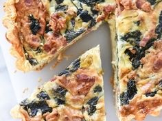 Deep Dish Spinach, Leek and Bacon Quiche