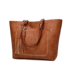 Women's Vintage Tassel Leather Shoulder Bag