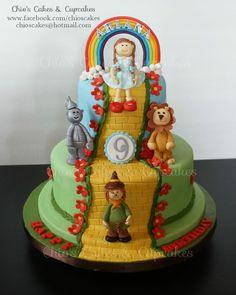 The Wizard Of Oz Themed Cake. Follow me: www.facebook.com/chioscakes #WizardOfOz #WizardOfOzCake #WizardOfOzParty #Dorothy