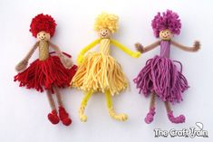 Pipe Cleaner Pom Pom Dolls (via The Craft Train)