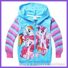 Hooded My Little Pony Jacket. runs tts.